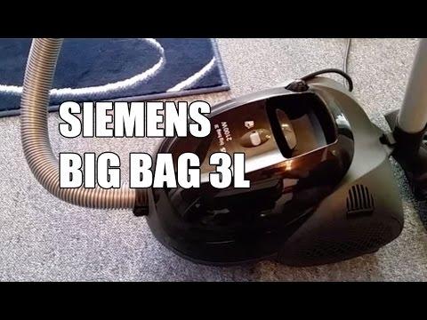siemens big bag 3l  Siemens BigBag 3L 2100 W - VS01E2100 Bodenstaubsauger - Saugtest ...