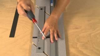 How to Re-Parallel a Mat Guide on a LOGAN mat cutter