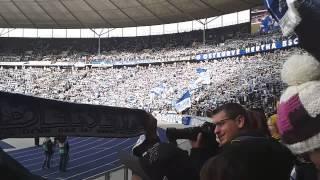 Einlaufen Hertha BSC - Hannover 96 ( Nur nach Hause gehn wir nicht ! )