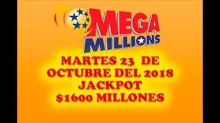 Gambar cover Resultados Mega Millions 23 de Octubre 2018 $1600 Millones de dolares Powerball en Español