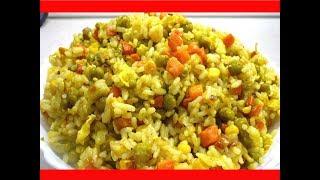 Вкусный Рис с Овощами- ЖАРЕНЫЙ РИС/ С ОВОЩАМИ И ЯЙЦОМ/ АРОМАТНЫЙ И СЫТНЫЙ ГАРНИР ИЗ РИСА