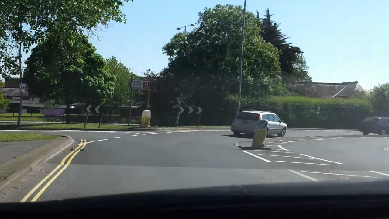 St Mary's Roundabout from Yarmouth to Ryde - YouTube