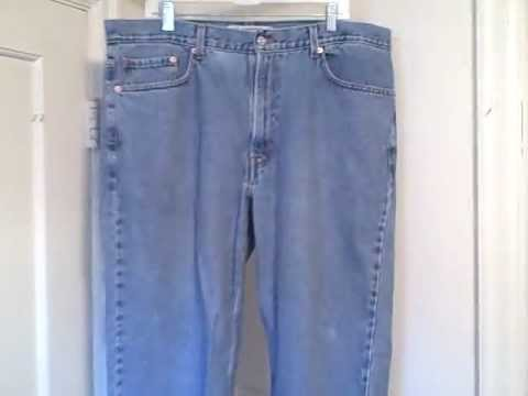 Levi Strauss 550 Relaxed Fit Men's 40 W 30 L Blue Denim Jeans Used 005504891