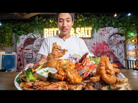 5kg-lobster-fusion-seafood-platter!-insane-meat-mountain-challenge!