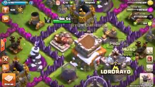 Mi primer video jugando a clash of clans