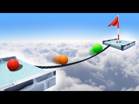 IMPOSSIBLE TIGHTROPE GOLF COURSE! (Golf It)