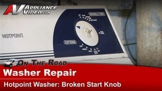 Hotpoint Washer Repair - Broken start knob - VBXR1090B2WW