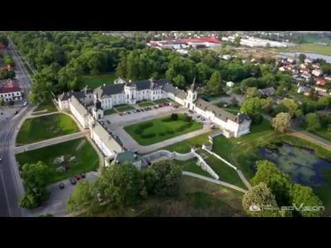 Pałac Potockich - Radzyń Podlaski - Polska z powietrza - Filmowanie z powietrza GOVISION - DRON