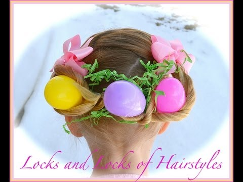 easter hairstyle egg basket
