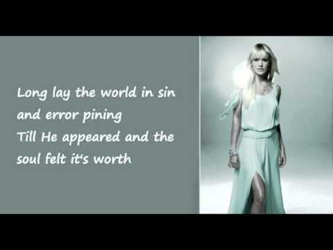 O Holy Night   Carrie Underwood Lyrics on Screen