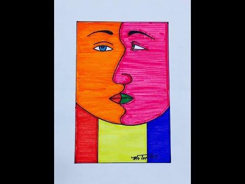 How to draw a Cubist Portrait.