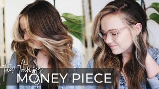 Money Piece Hair Technique How To Do A Face Frame On A Dimensional Balayage New Hair Trend 2019 Youtube