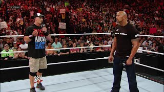 The Rock and John Cena go face-to-face before their Once in a Lifetime showdown: Raw, March 26, 2012