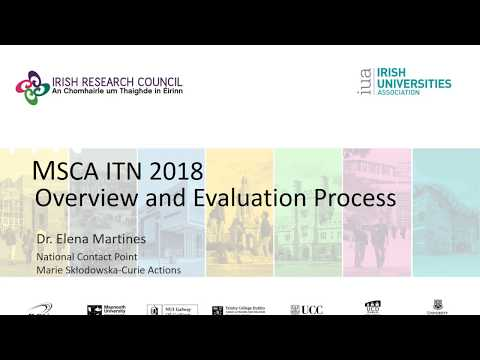 MSCA ITN 2018 Overview & Evaluation
