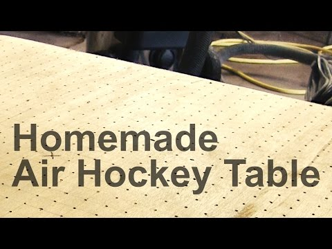 Homemade Air Hockey Table