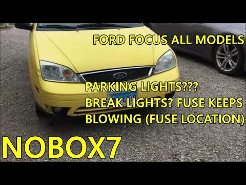 Ford focus Tail light( fuse blowing) fix and location year 2000 models