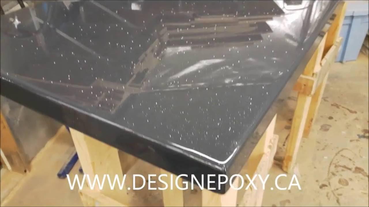 Gallery of epoxy countertop comptoir epoxy with recouvrir un comptoir de cuisine - Recouvrir un comptoir de cuisine ...