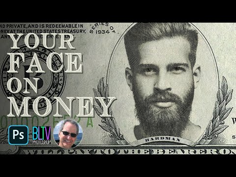Photoshop: Put Your FACE onto Paper MONEY!