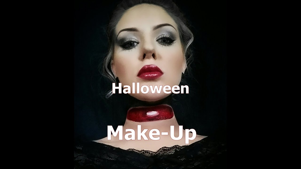 einfaches halloween make up tutorial off with your head youtube. Black Bedroom Furniture Sets. Home Design Ideas