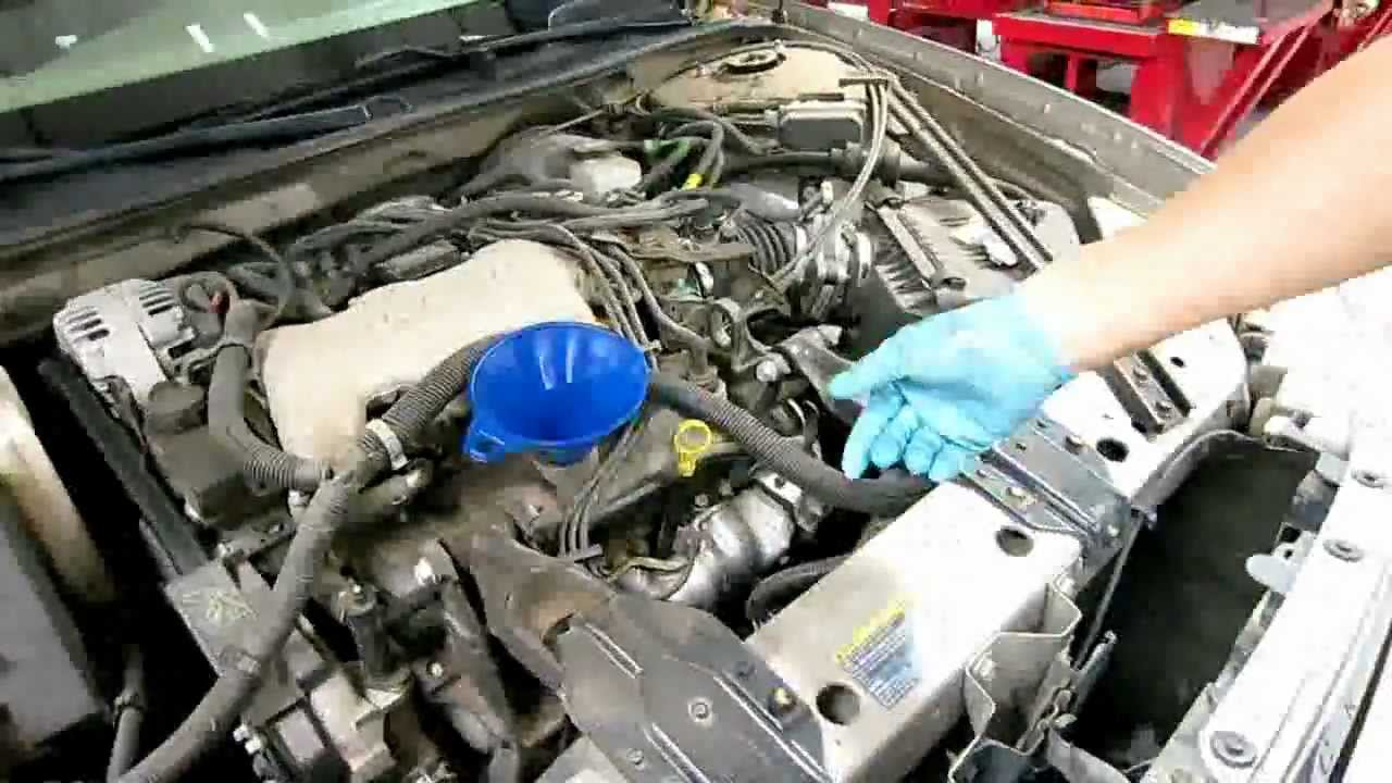 Howto DIY 2004 Buick Century Oil Change replace filter