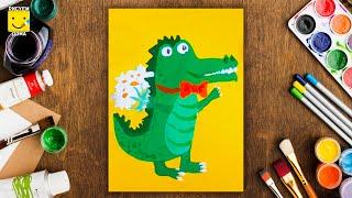 Как нарисовать крокодила - урок рисования для детей от 5 лет, рисуем дома поэтапно(Мы ВКонтакте - http://vk.com/risuem_doma Мы в Инстаграм - https://instagram.com/risuem_doma/ Дети рисуют пошагово, аллигатор, цветы...., 2016-01-17T17:43:37.000Z)