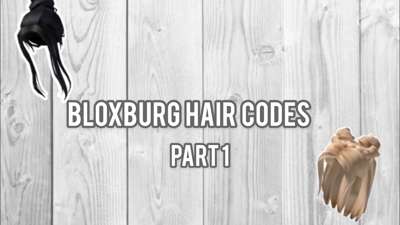 Bloxburg Hair Codes Part 1 Sunday Sunlight Youtube