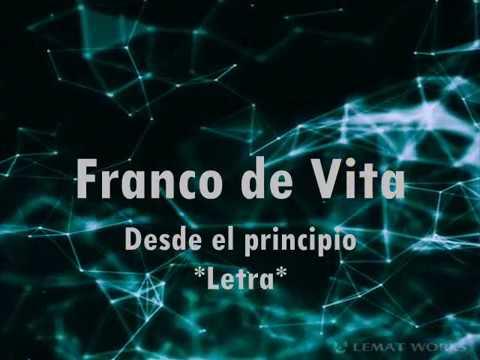 Franco de Vita Desde el principio *Letra*