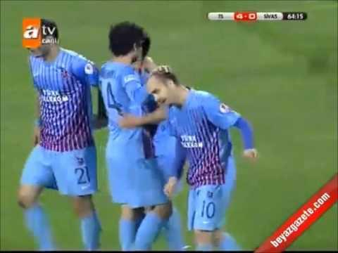 Trabzonspor 6-0 Sivasspor Geniş Özet   Ziraat Türkiye Kupasında Trabzon Finalde [08.05.2013]