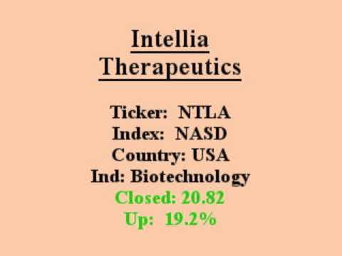 $NTLA will this stock make you $ Great Sales Q/Q closed in above avg vol 1 min video