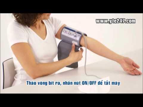 Hướng dẫn sử dụng máy đo huyết áp Omron HEM-7221