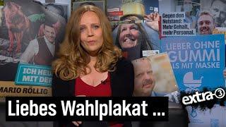 Sarah Bosetti mit den schrecklichsten Wahlplakaten