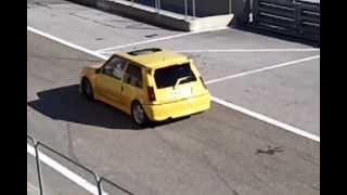 Roulage circuit pole mécanique Alès Super 5 GT Turbo (part 3)