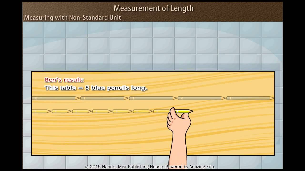 small resolution of Measuring with Non Standard Unit - YouTube