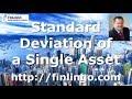 Standard Deviation of a Single Asset