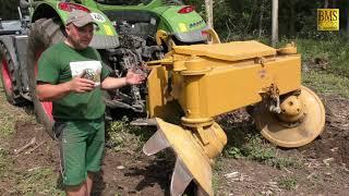 Moderne Forsttechnik - Bodenbearbeitung für Wiederaufforstung Schäl-/ Frästechnik -Sturmschaden Wald