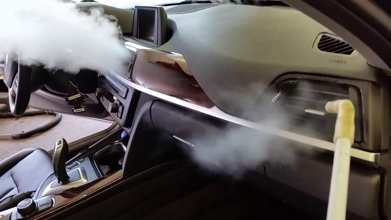 Steam Cleaning Of Car Interior Youtube