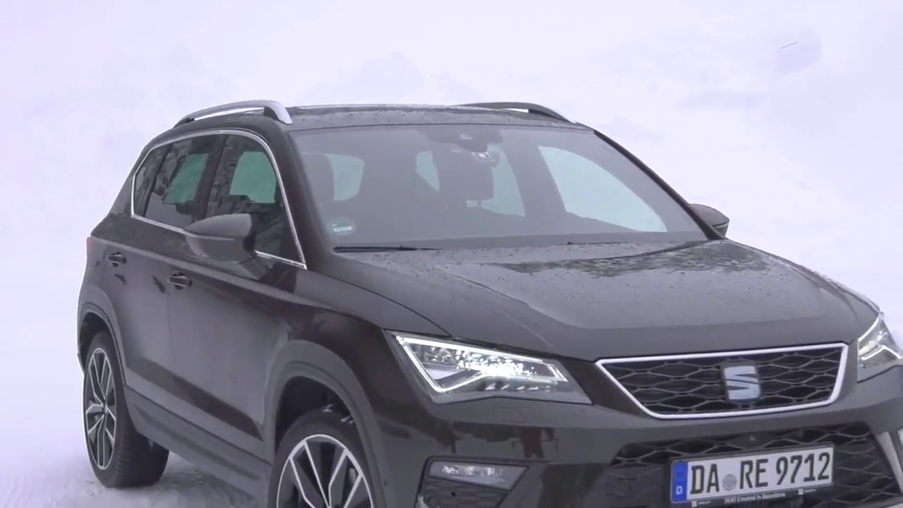 2018 new seat ateca xcellence in magnetic brown driving scenes on snow youtube. Black Bedroom Furniture Sets. Home Design Ideas