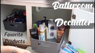 SMALL BATHROOM DECLUTTER || Target Storage Bins!