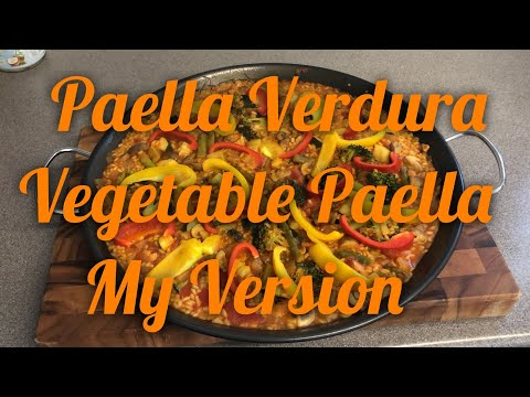 Paella Verdura   Vegetable Paella My Version