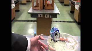 理科でおなじみの大気圧の実験!! 空気の力で空き缶をつぶしてみました。