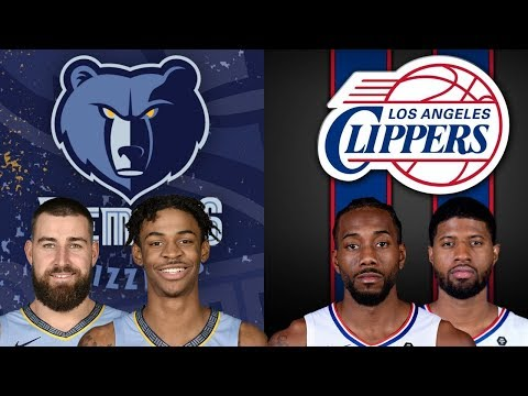 NBA STREAM : Memphis Grizzlies Vs Los Angeles Clippers | Live Play By Play & Reactions