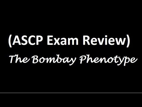 ASCP Exam Review Bombay Phenotype