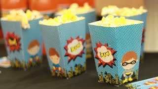 How to Make a Popcorn Box, Cupcake Toppers