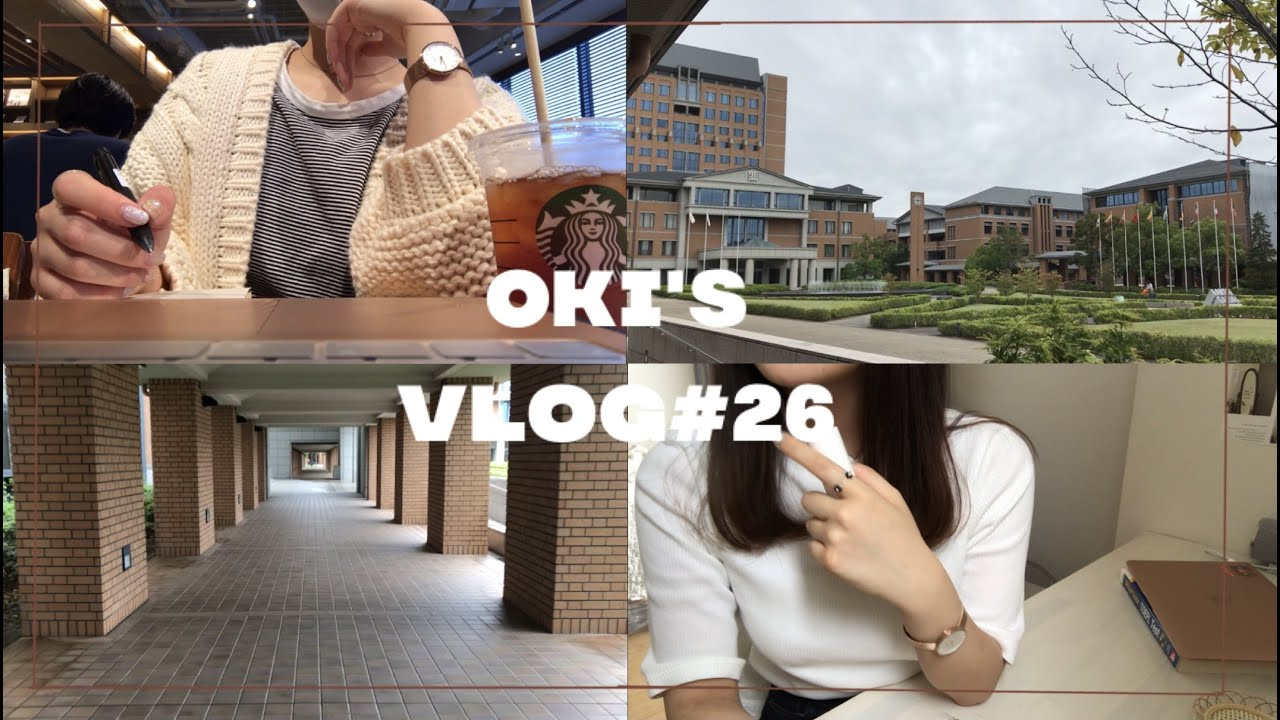 VLOG#26(ENG)10ヶ月ぶりに大学に行ってみました  going back to campus for the first time in 10 months
