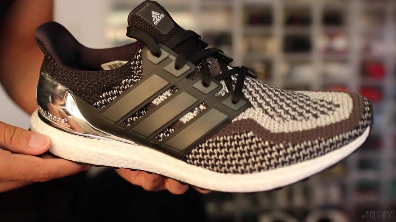 ef078ae5d521 Adidas Ultraboost Olympic Silver W On Foot Review - YouTube