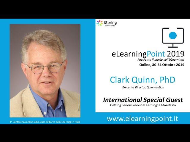 eLearningPoint 2019 - Intervento del Prof. Clark Quinn - Quinnovation.com