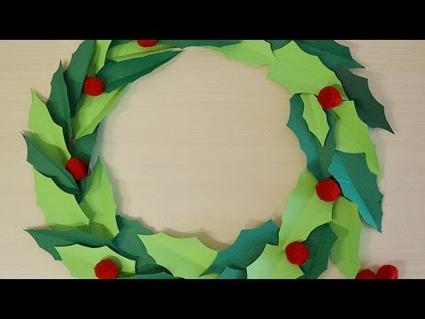 How To Make A Paper Christmas Wreath - DIY Crafts Tutorial - Guidecentral