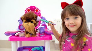 Ksysha Pretend Play Beauty Salon for dogs