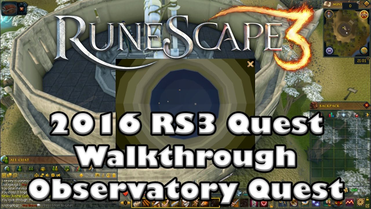 Rs3 quest guide observatory quest 2017 up to date! youtube