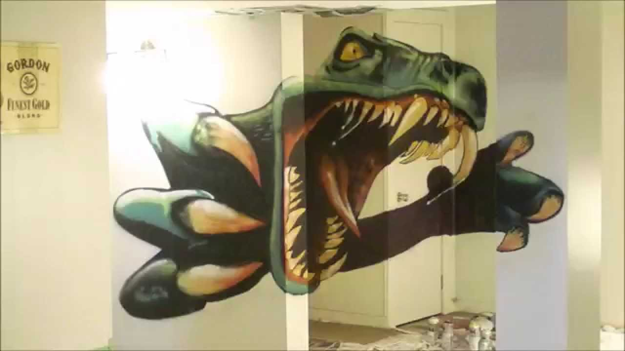 Dinosaur Timelapse Spray Paint